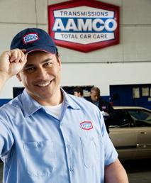 изображение приветствия механика AAMCO с улыбкой, кончик шляпы.