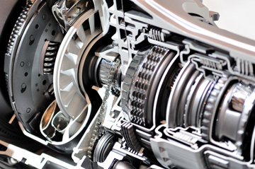 image of a car transmission up close